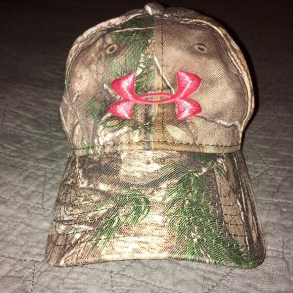 Women s UA Real tree camo hat. 6ddf60788